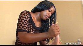 Teen Ebony Strokes A...