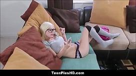 Tiny Blonde Teen Babysitter...