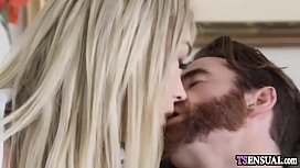 Blonde shemale anal fucked...