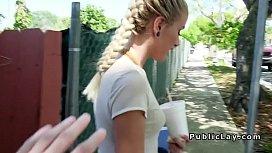 Pierced nose blonde bangs...