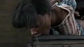 Bound Black girl fucked...