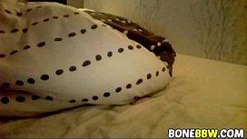 Blindfolded BBW gets fingered...