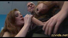 Nikki Rhodes threesome fuck...