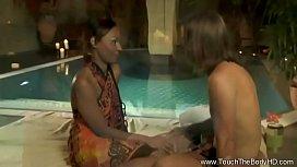 Deep Ebony Ass Massage