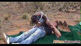 Three African sluts get...