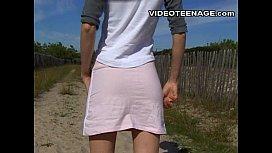 Real teen no panties...