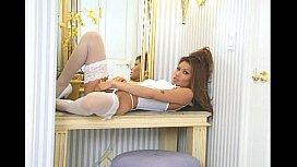 Charmane Starr white lingerie...