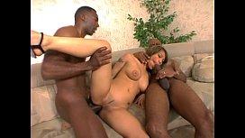 Luci Thai takes 2 black guys in