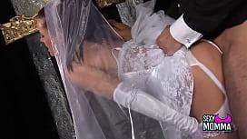 Horny bride gets a...