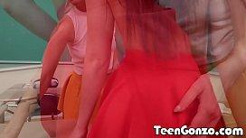 TEENGONZO Schoolgirls get frisky...