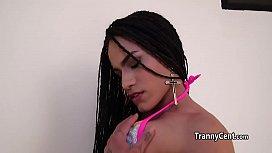 Sexy latina tranny deep...