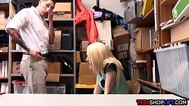 Blonde teen thief gets...