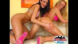 Two teen girls in...