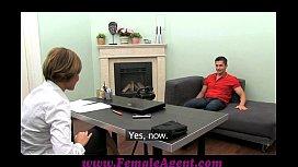 FemaleAgent MILF cums all...