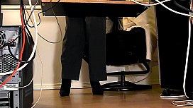 Secretaries under desk hidden...