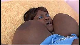 Fat black slut Mizz Fantastik gets stiff fuck from a hard black dong in bed