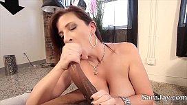 Sara Jay Sucks Big Black Cock POV! mare orgasm
