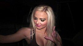 Beautiful blonde girl PUBLIC...