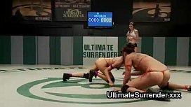 Female wrestlers strapon dildo...