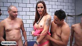 Latin tranny hot gangbang...
