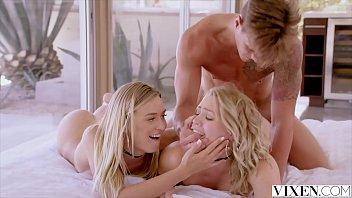 Vixen Mia Malkova And Natalia Starr Share A Huge Cock thumbnail