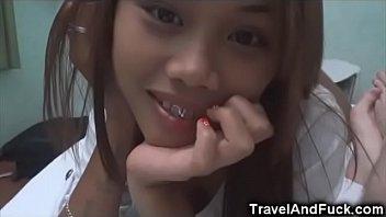 Lucky Tourist With 2 Filipina Teens