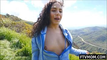 Latina Milf flashing tits and ass