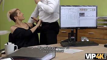VIP4K. Agent ruft Lussy Sweet für ein Date an, aber sie fickt ihn im Büro
