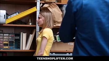 Tiny Blonde Teen Catarina Petrov Caught Stealing