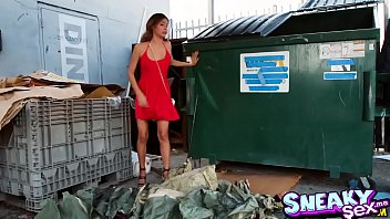 Jade Jantzen blowjob the homeless cock