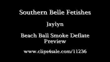 Jaylyn beach ball smoke deflate