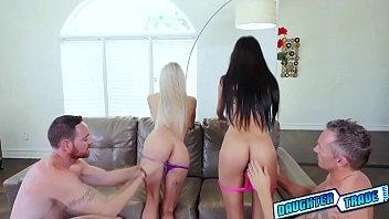 Emma Hix and Katya Rodriguez getting a huge large cock