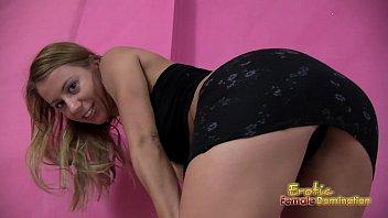 Hot foreign Mistress controls your masturbation habits