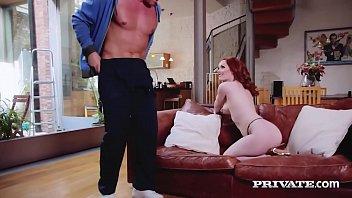 Private.com Red Ella Hughes Rides Hard Cock With Ginger Bush