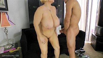 Cougar BBW Samantha 38G Pays Stud to Fuck Her