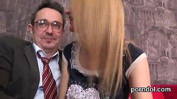 Pretty schoolgirl gets teased and screwed by senior tutor