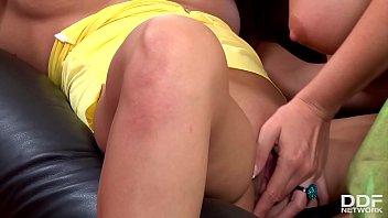 Big tits make lesbian glamour pornstars Sandra Shine &amp_ Alison Star go wild