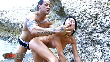 Asian Metis Whore fucked by muscle man with big cock