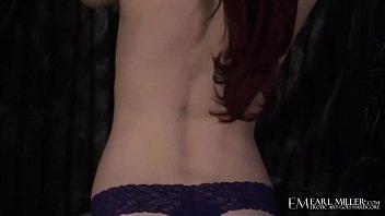 Milky White Redhead Elle Alexandra Rubs Her Pale Pussy!