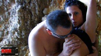 Spanish brunette pornstar noemie jolie gets fucked at the beach