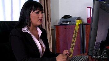 Busty Detective Jasmine Black Titty Fucks &amp_ Sucks Suspect