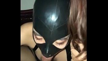 Masked slut gives perfect blowjob and deepthroat