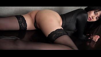 Asahi Sugawara High-leg leotard black and stockings legs,ass-fetish image video solo (Original edited version)