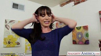 Brunette housewife Dana Dearmond take cock in POV