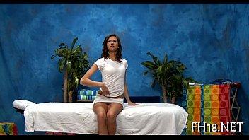 Sensual massage episode scene