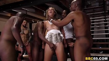 Anal Slut Sophia Grace Tries To Survive Gangbang With Big Black Dicks