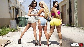 BANGBROS - Rose Monroe, Brandi Bae and Ariella Ferrera Runnin' Shit On The Fuck Team Five