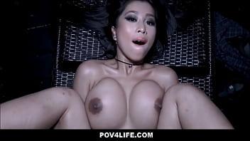 Hot Asian Teen Caught Skinny Dipping Fucked By Neighbor POV