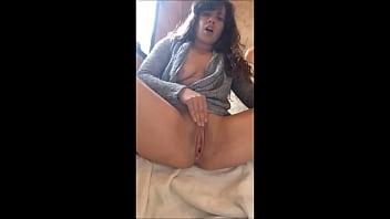 SEXY BRUNETTE MASTURBATING IN BATHROOM