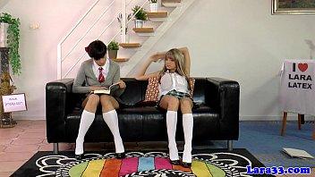 Школьницы и учительница лесбиянка